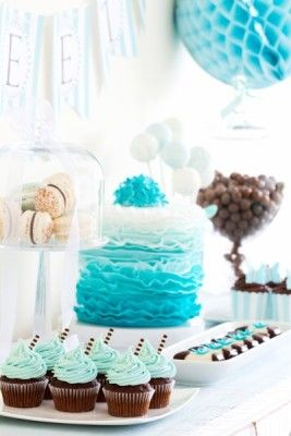 Birthday Dessert Table <3 See More Cute Dessert Table Ideas at www.CarlasCakesOnline.com