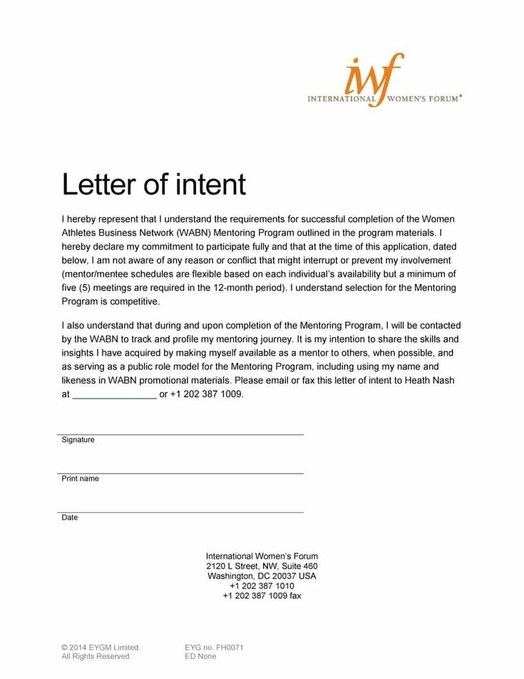 visit our page to learn how to write a letter of intent