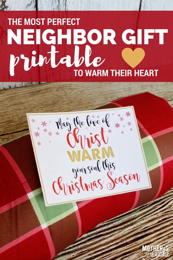 Neighbor gift tag that can be used with 20+ different gift ideas