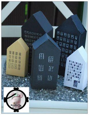 TUTORIAL - Paper Houses #tutorial #DIY #dom #houses #papier #paper