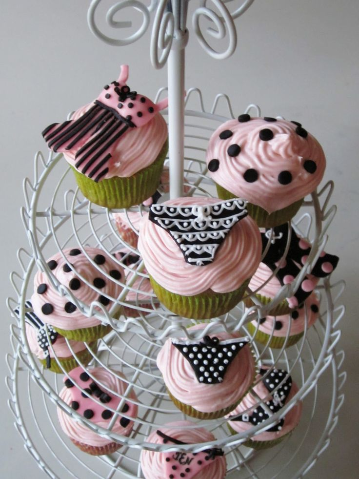 Darlin' Designs: Lingerie Shower cupcakes