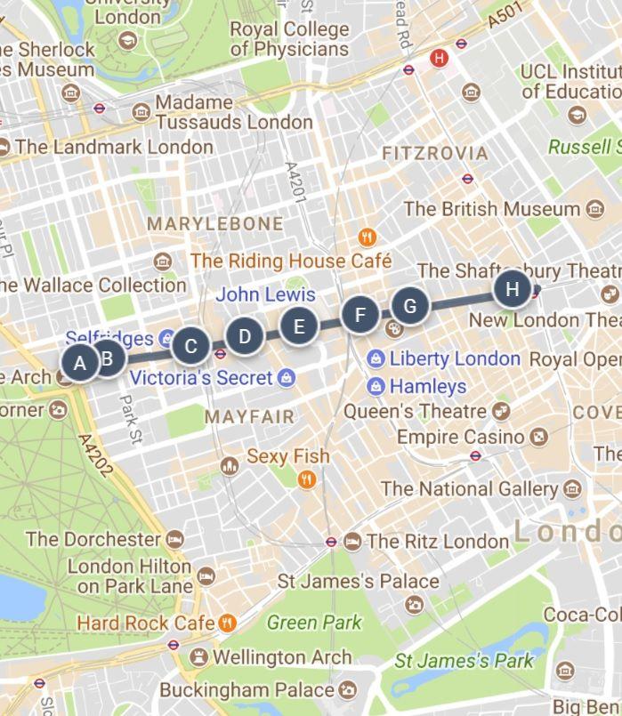 Map Bond Street London.A Walk Down Oxford Street London S Shopping Capital A Sightseeing