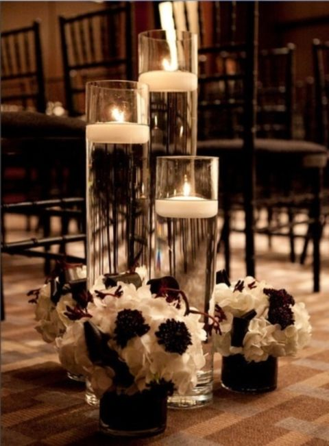 1000 Ideas About Black And White Centerpieces On Pinterest
