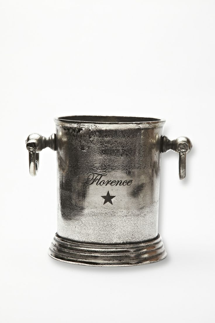 Wine Bucket Steel with Florence star, Florence Design <3