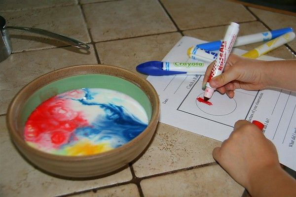 milk and food coloring science project Liquid food coloring is inexpensive, nontoxic and easy to find at the grocery store making it perfect for science experiments with young children.