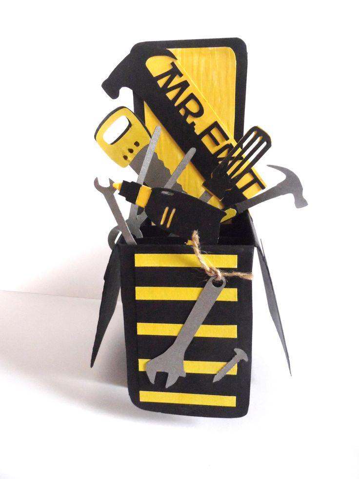 Card-in-a-box - Mr Fix-it tools masculine card