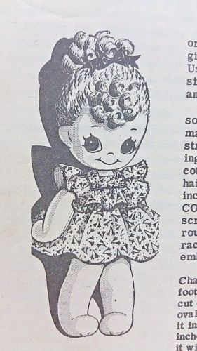 Cute-ALICE-BROOKS-Vtg-1946-Mail-Order-Sew-Pattern-7489-Girl-Sock-Doll-amp-Clothes