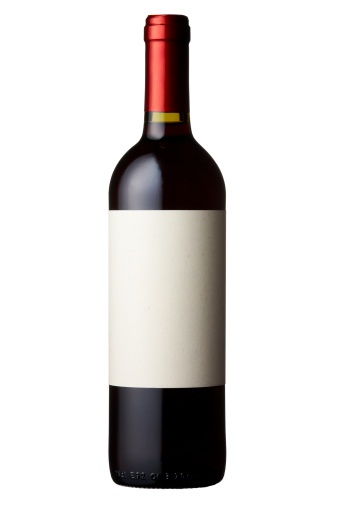 Wine Bottle With Blank Label Products I Love Graphic