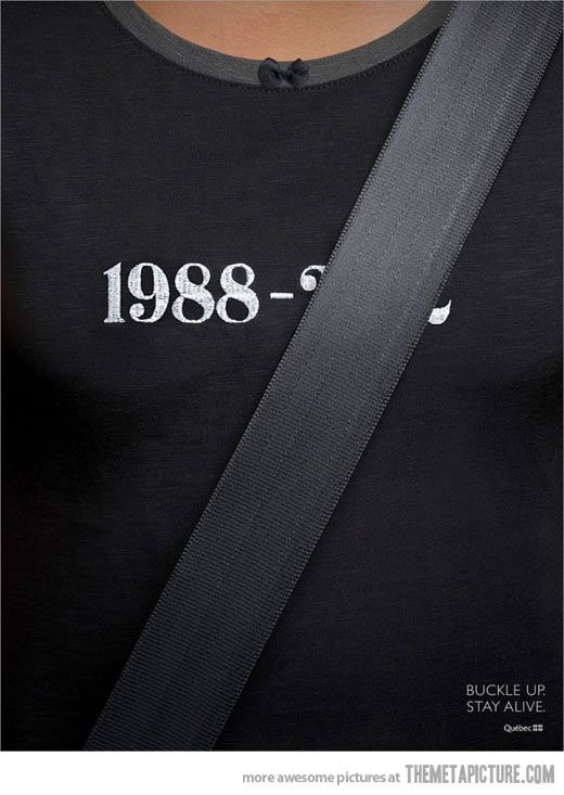Your life belongs to seat belt. #marketing #advertising #automotive