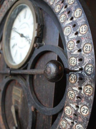 Vintage German Time Clock .:!:.
