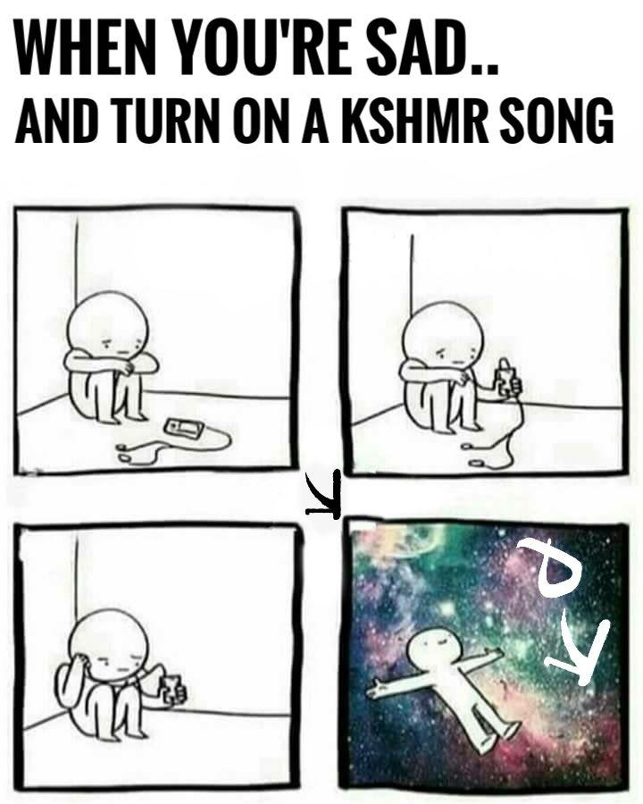 When i'm sad there is KSHMR #kshmr #kshmrlogo #logo #dharmaworldwide #meme #gracethekshmrfan