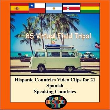 Hispanic Countries Video Clips for 21 Spanish Speaking Countries