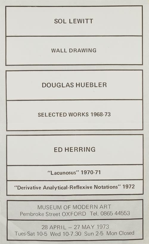 Sol Lewitt, Douglas Heubler, Ed Herring
