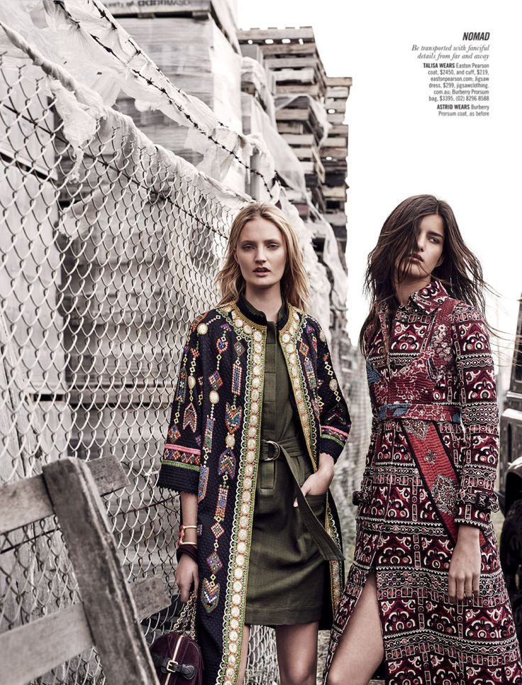 astrid holler and talisa quirk by duncan killick for sunday style september 2015 - Burberry Prorsum