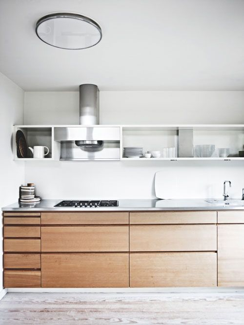 Love the cabinets...no handles, perfectly plain...love! THE SCANDINAVIAN HOME OF ARCHITECT PERNILLE ARENDS