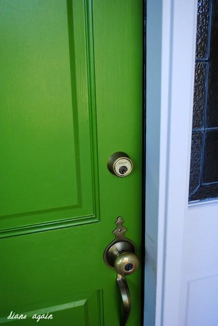 Front Porch Green Front Door Door Knob My Home Sweet