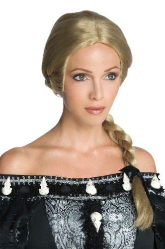 Ravenna Wig Blonde Braid Snow White and the Huntsman Movie Evil Queen Stepmother; another: http://www.rakuten.com/prod/adult-ravenna-snow-white-huntsman-blonde-braided-costume-wig/236559623.html