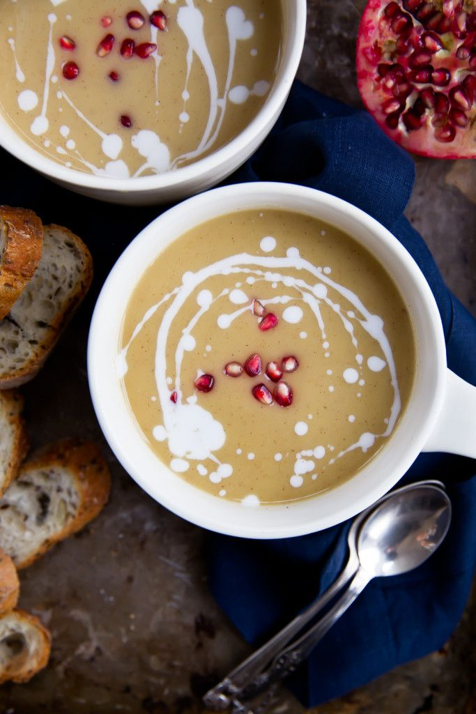 Roasted butternut squash and white bean soup