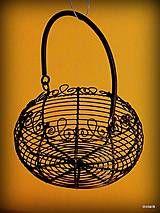 Dekorácie - Drôtený košík - 7458594_