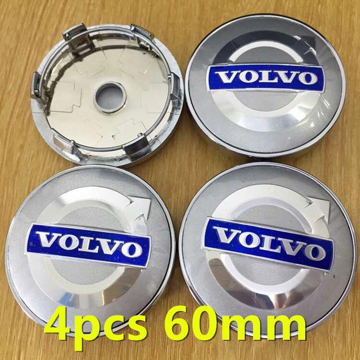 4pcs 60mm car emblem Wheel Center Hub Cap Wheel Dust-proof Badge covers VOLVOS S40 S60 S80 V40 V50 V60 V70 XC60 XC70 XC90 C30