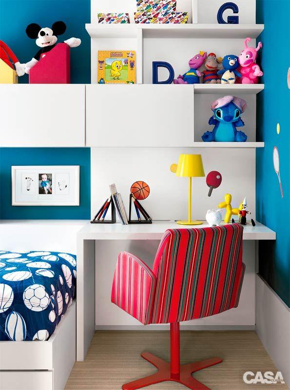 Sete quartos de criança com boas soluções de organização - Casa