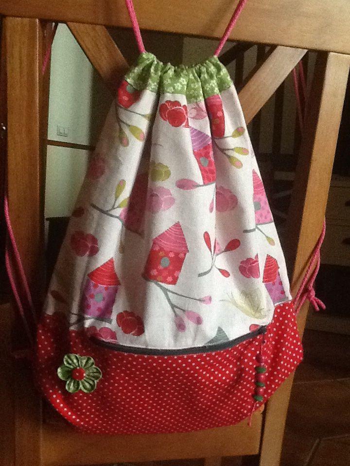 Mochila de tela. Fabric backpack.