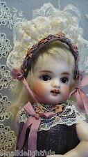 "Антикварный французский стиль шелк for8.5-9"" все фарфоровая кукла кестнер mignonette шапка платье"