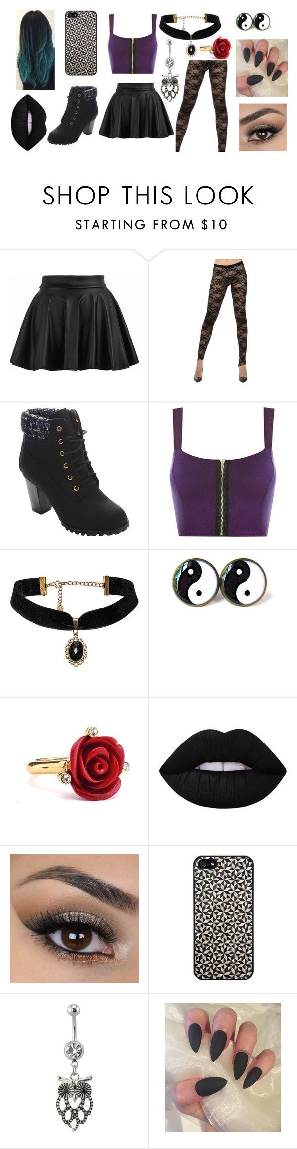 """Untitled #68"" by zahlia-tibbs on Polyvore featuring If Six Was Nine, Bella Marie, WearAll, Oscar de la Renta, Lime Crime and Tarxia"