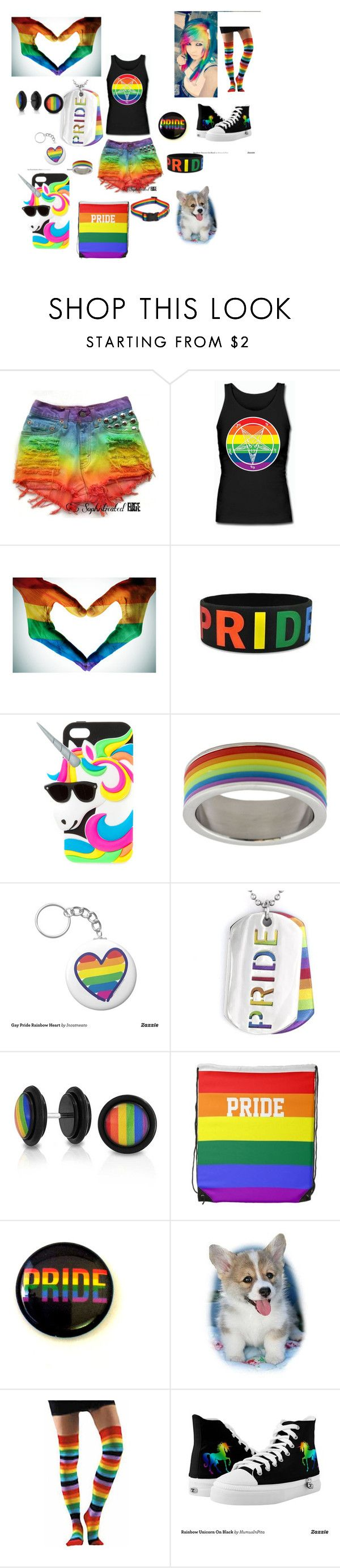 """""""loud and proud"""" by stayawayfromsquidgytheoutcast ❤ liked on Polyvore featuring Rush Industries, West Coast Jewelry and Bling Jewelry"""