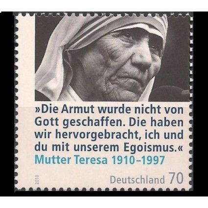 Germany 2010 Mother Teresa Health Welfare Famous Women Pe