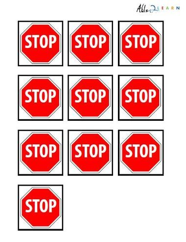 Stop Sign Pecs 1 Pages Printable Signs Free Autism Education Free Printable Worksheets