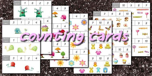 Counting cards - cartes à compter   reprise d'apres une idée vu sur pinterest ^^