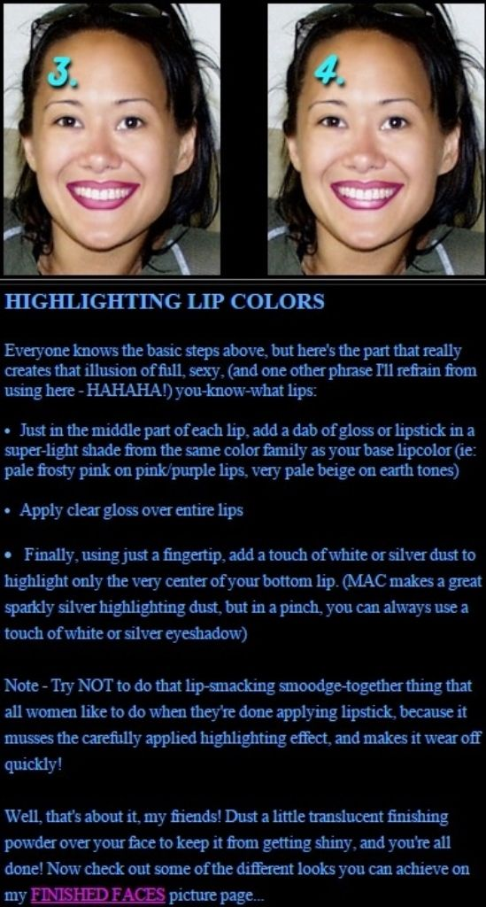 Asia Carrera's Makeup Tricks - Lipliner and Color - Highlighting Lip Colors (Step 10)