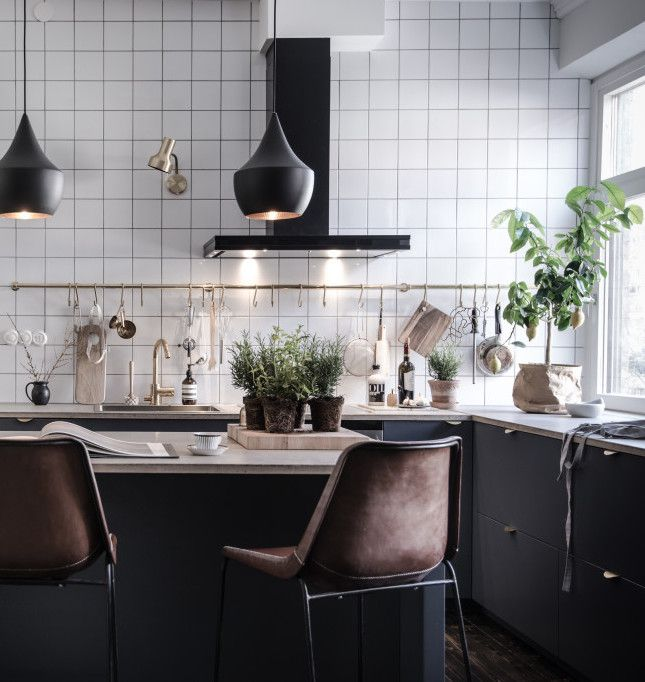 Black Kitchen Tile best 25+ black white kitchens ideas on pinterest | grey kitchen