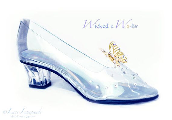 NEW Cinderella 2015 Glass Slippers FOR GIRLS by wickedandwonder