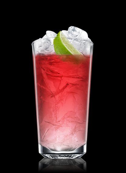 Absolut Kurant Scarlet - Fill a chilled highball glass with ice cubes. Add Absolut Kurant. Top up with cranberry juice. Garnish with lime. 3 Parts Absolut Kurant, Cranberry Juice, 2 Wedges Lime