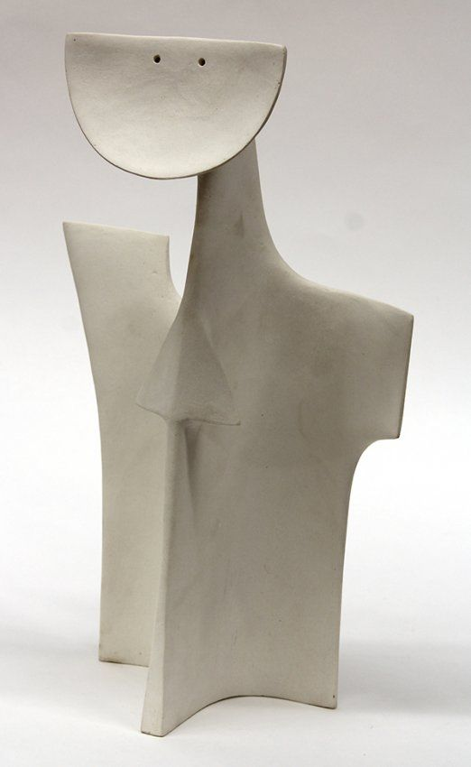 """Ruth Duckworth (British, 1919-2009), Untitled (Attendant Spiritual Form), ceramic sculpture, numbered """"651999"""" under base, overall: 18""""h x 11""""w x 5.5""""d. Provenance: Property of the Marquis C. Landrum Trust donated to The Montclair Foundation for support of the Van Vleck House and Gardens and The Montclair Art Museum"""
