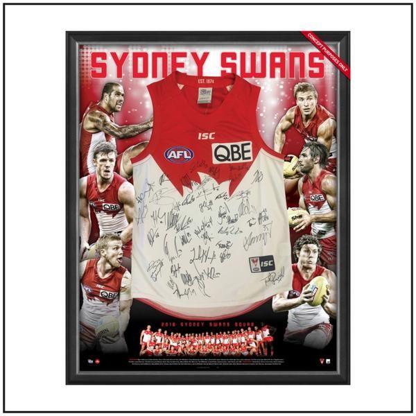 2016 Sydney Swans signed guernsey $995 #sydneyswans #memorabilia #signed