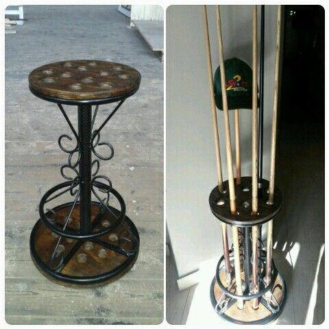 Pool cue stand holder