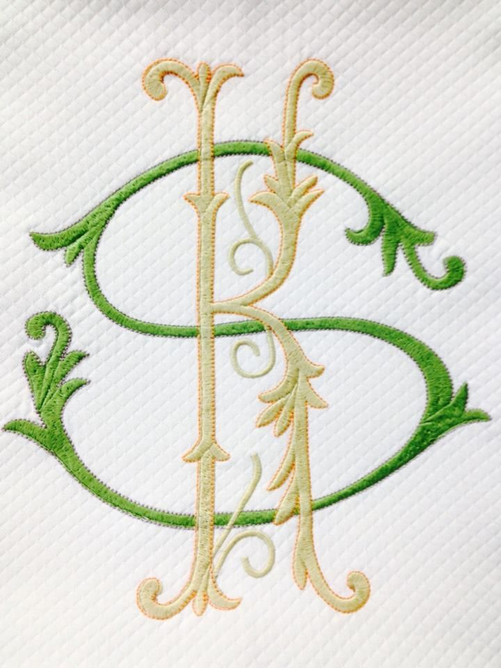 Matouk diamond pique coverlet quot monogram bestmonogram