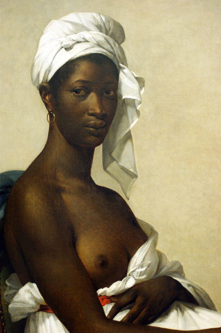 Marie-Guillemine Benoist, Portrait d'une femme noire dit autrefois « Portrait d'une négresse« , Salon de 1800 (Paris, Louvre)