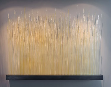 Wheat glass art installation piece from Canlis Glass, Seattle