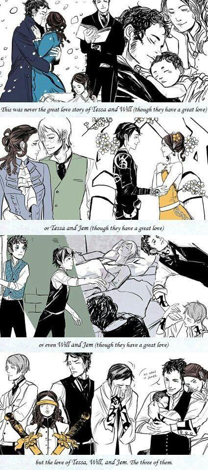 Great love story of all three of them♡ #TessaGray #WillHerondale #JemCarstairs