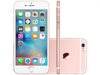 "iPhone 6S Plus Apple 64GB Ouro Rosa 4G Tela 5.5"" - Retina Câm. 12MP + Selfie 5MP iOS 9 Proc. Chip A9"