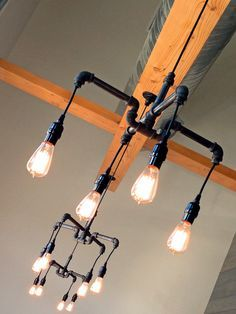 Industrial lighting on Pinterest | Chandeliers, Pipes and Plumbing ...