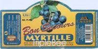 Label van Bon Secours Myrtille