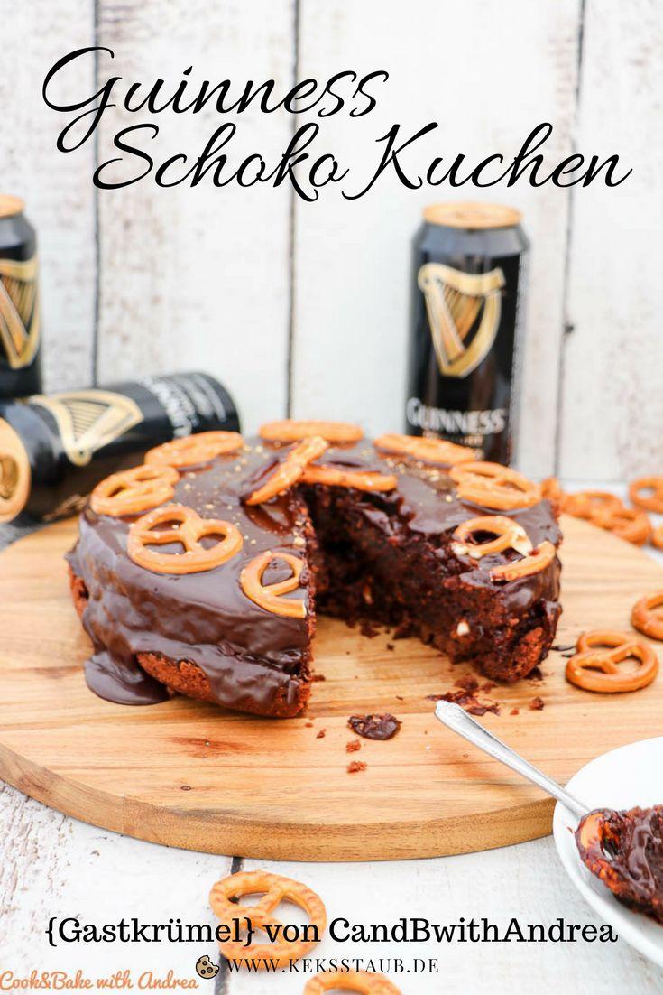 Heute gibt es ein Rezept zum Backen für einen richtig schokoladigen Irish Stout - Guinness - Schoko Kuchen mit Salzbrezeln. Perfekt als Geburtstagkuchen finde ich :)