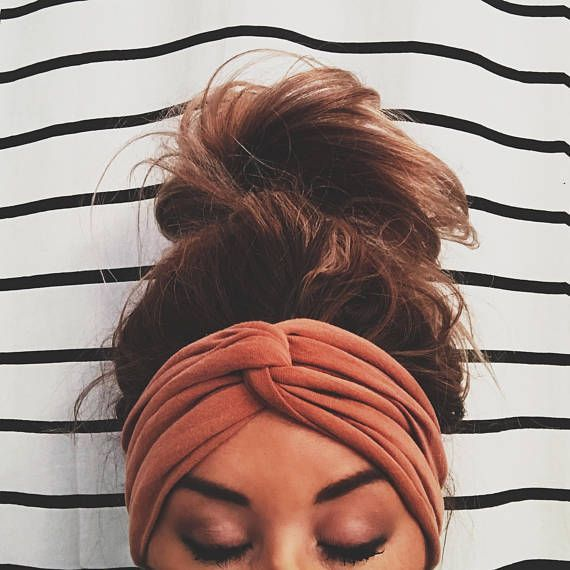 Cognac Scrunch Headband, Extra Wide Headband, Jersey Headband, Turban Jersey Headband, Boho Headband, Boho head wrap (women, teen girls) #ad As seen on Teen Mom 2's Chelsea Houska!  ▲▲▲ Made From Cotton/ Jersey Mix Fabric ▲▲▲ Super Soft & Stretchy & Made to fit any size head ▲▲▲ Perfect for college days, late days, bad hair days, summer days, cold days, lazy days  ▲▲▲ Wear it as an Extra Wide style or Turban Style! ▲▲▲ Comes with instructions on how to obtain either look!