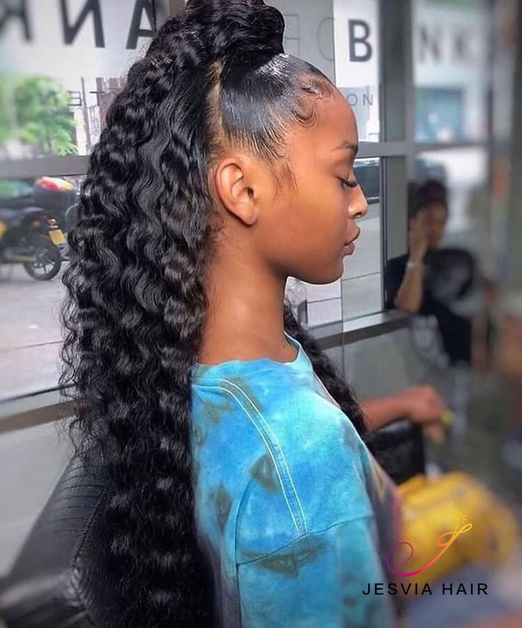 Pretty deep wave ponytail. It is so beautiful.