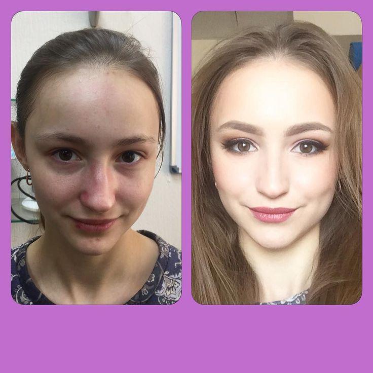 Прекрасная модель Анна на занятии по салонному макияжу.  #школавизажа #курсымакияжа #курсымакияжа #obukhovamakeup #obukhovamakeupschool #makeup